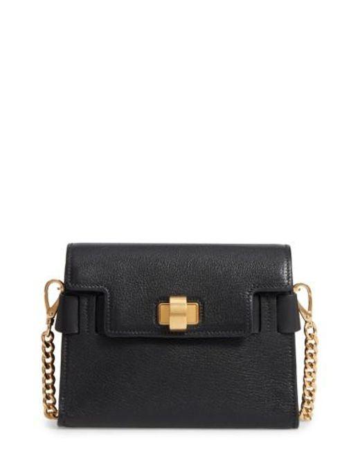 Miu Miu | Black Madras Leather Crossbody Bag | Lyst