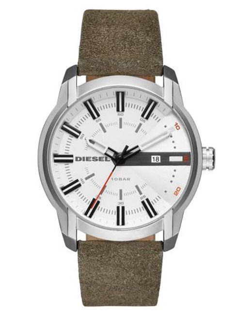 DIESEL | Multicolor Diesel Armbar Leather Strap Watch for Men | Lyst