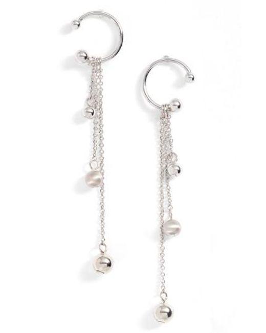 Rebecca Minkoff | Metallic Linear Drop Earrings | Lyst