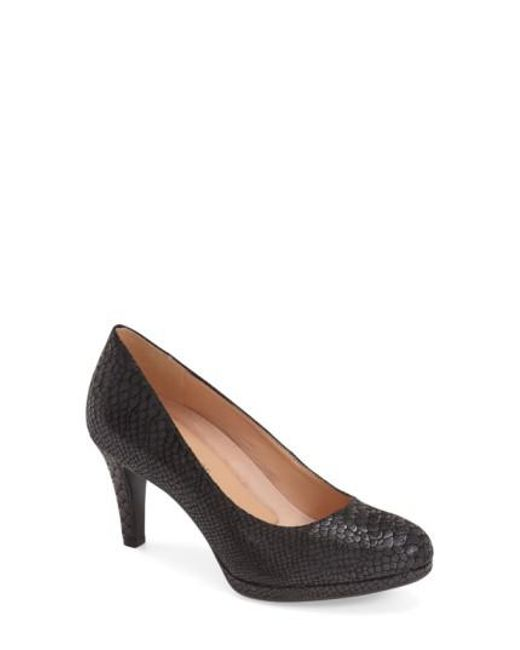 Naturalizer | Black 'michelle' Almond Toe Pump | Lyst