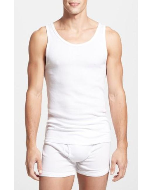 CALVIN KLEIN 205W39NYC - Classic Fit 3-pack Cotton Tank Top, White for Men - Lyst