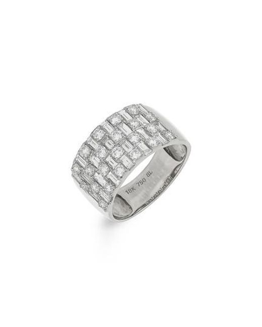 Bony Levy | White Multi Row Diamond Band Ring (nordstrom Exclusive) | Lyst