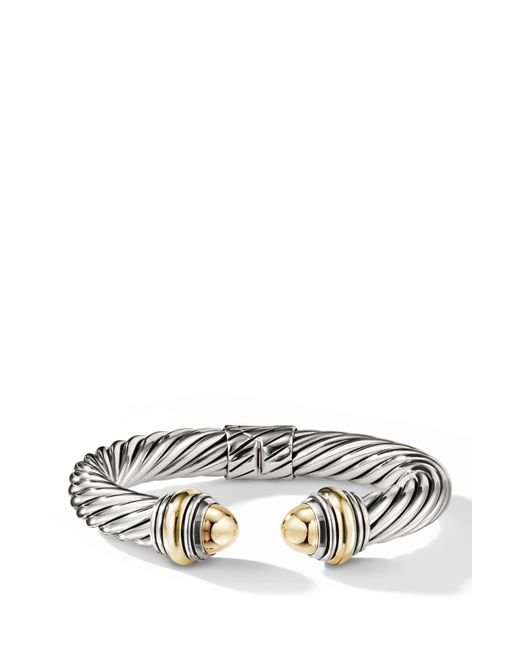 David Yurman Metallic Cable Classics Bracelet With Bonded Yellow Gold & 14k Gold