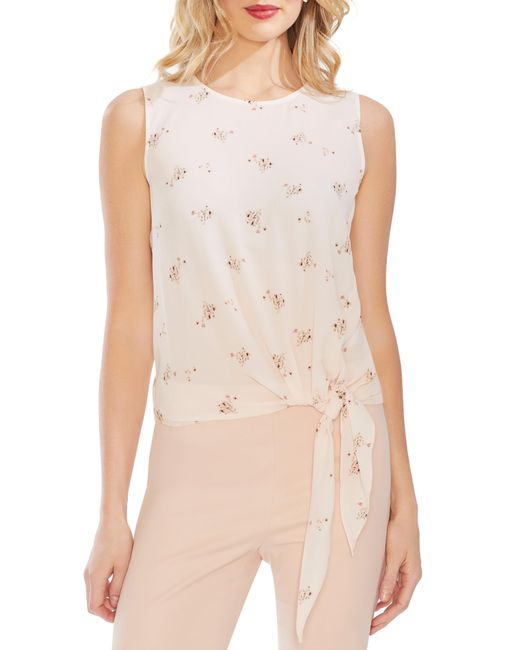 ff01877974c95 Vince Camuto - Multicolor Desert Bouquet Tie Front Sleeveless Top - Lyst