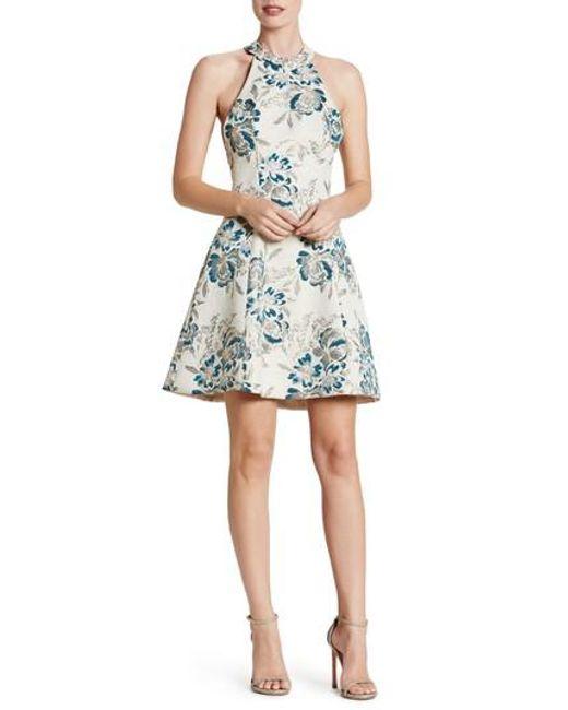 Dress the Population | Blue Hannah Fit & Flare Dress | Lyst