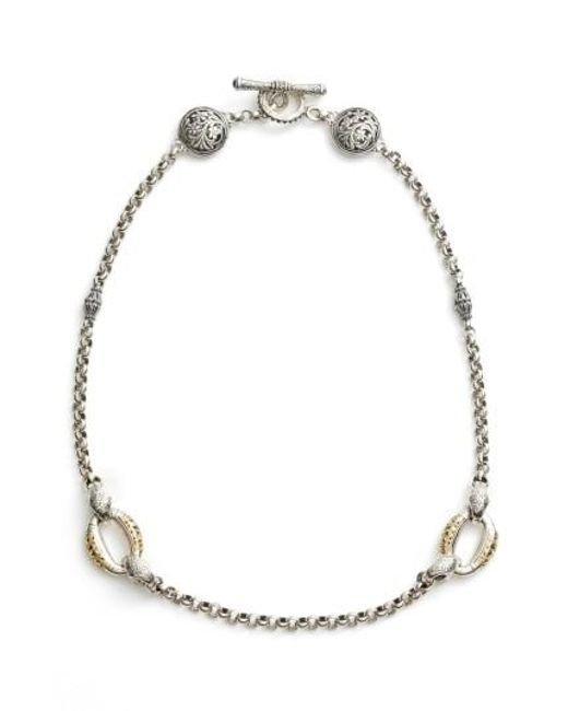 Konstantino | Metallic Classics Daphne 18k Yellow Gold & Sterling Silver Station Necklace | Lyst