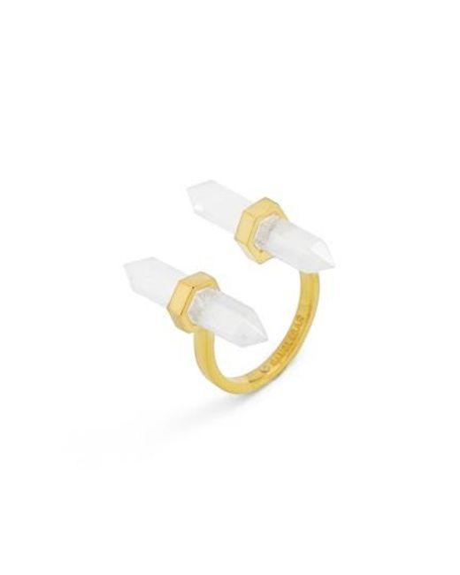 BaubleBar | Metallic Faden Quartz Open Ring | Lyst