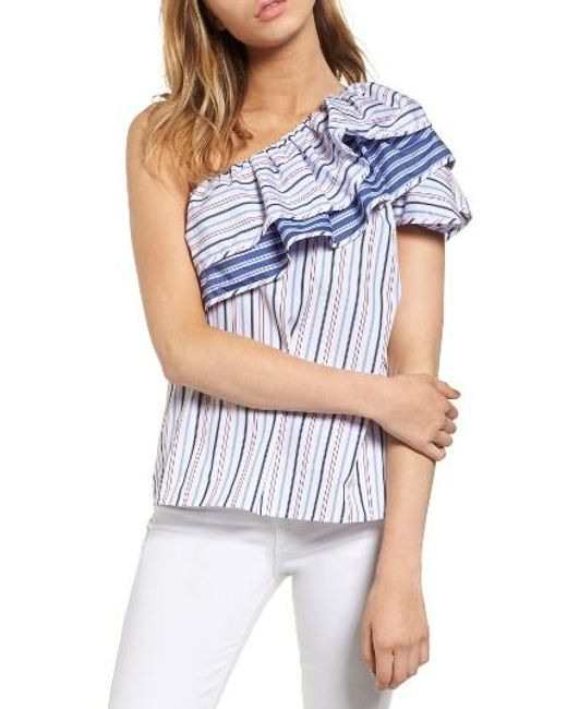 Parker | Blue Mary One-shoulder Top | Lyst
