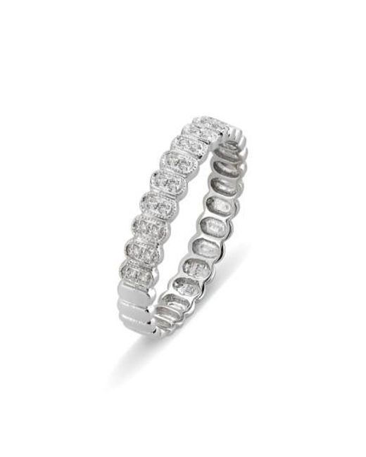 Bony Levy | Metallic Diamond Oval Stacking Ring (nordstrom Exclusive) | Lyst