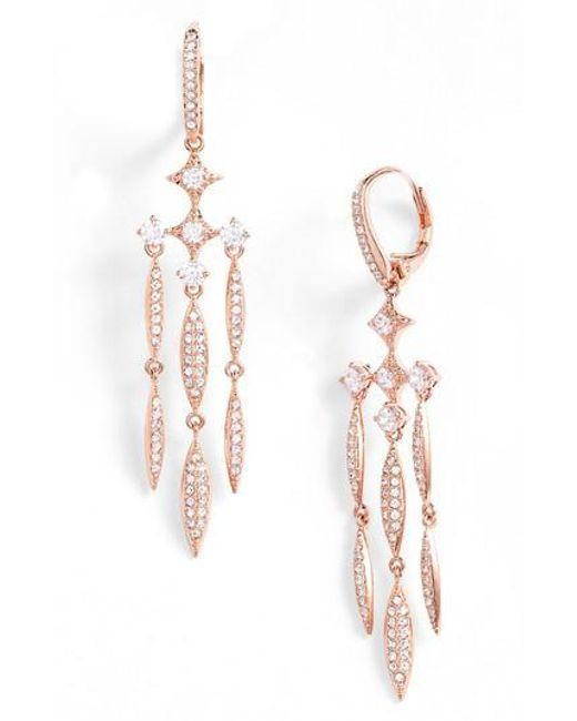 Nadri | Multicolor Cardamom Chandelier Earrings | Lyst