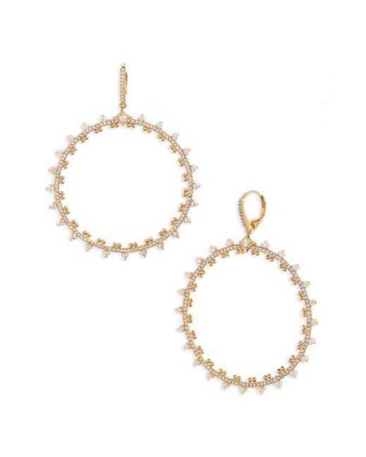 Nadri   Metallic Cardamom Frontal Hoop Earrings   Lyst