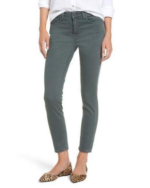 Mavi Jeans | Green Tess Colored Skinny Crop Jeans | Lyst