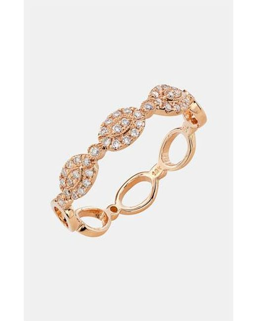 Bony Levy | Metallic Oval Diamond Stackable Ring (nordstrom Exclusive) | Lyst