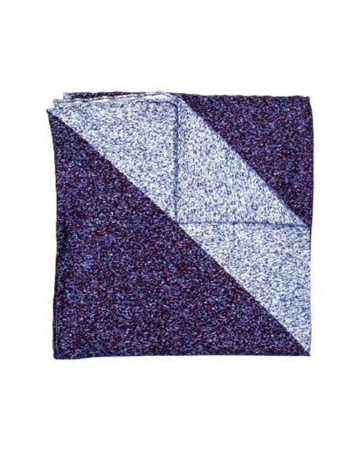 Hook + Albert   Blue Geometric Silk Pocket Square   Lyst