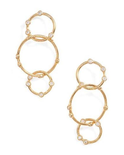 Melinda Maria | Metallic Link Drop Earrings | Lyst
