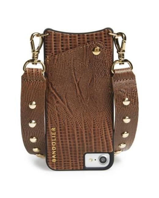Bandolier | Brown Bailey Iphone 6/7 & 6/7 Plus Crossbody Case | Lyst