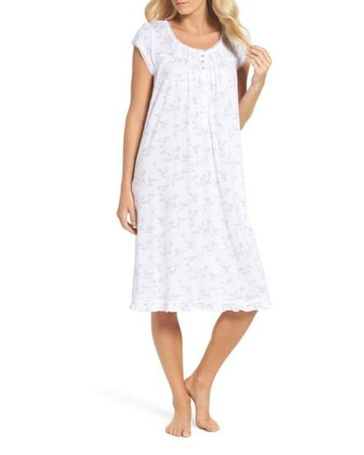 Eileen West | White Cotton & Modal Waltz Nightgown | Lyst