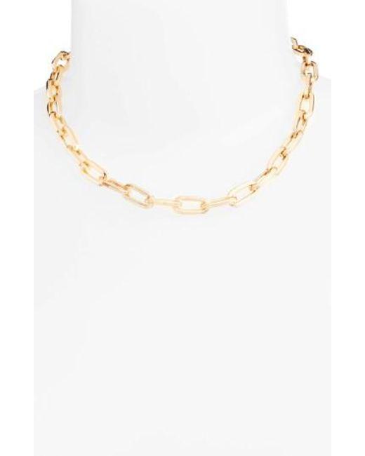 Rebecca Minkoff   Metallic Signature Link Necklace   Lyst