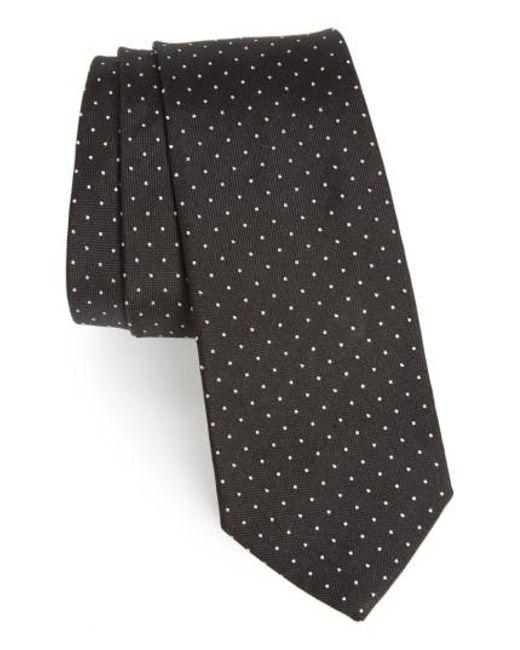 Paul Smith | Black Dot Silk Skinny Tie for Men | Lyst