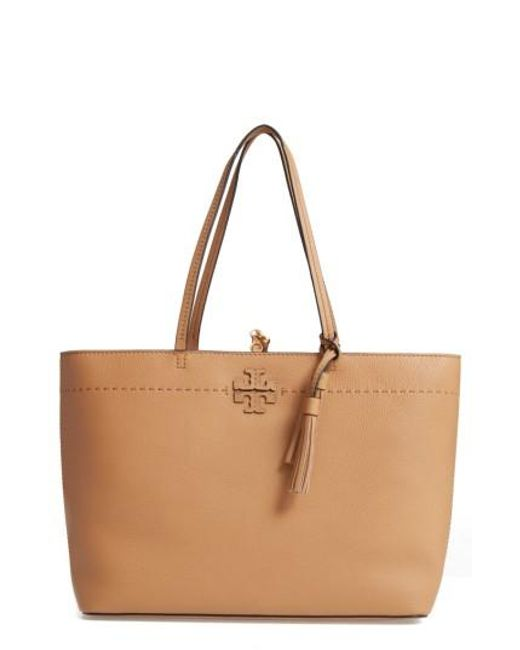 Tory Burch | Red Mcgraw Leather Tote | Lyst