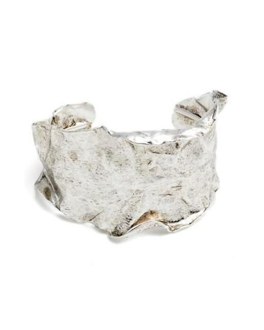 Karine Sultan | Metallic Wide Cuff | Lyst