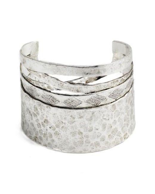 Karine Sultan   Metallic Wide Cuff   Lyst