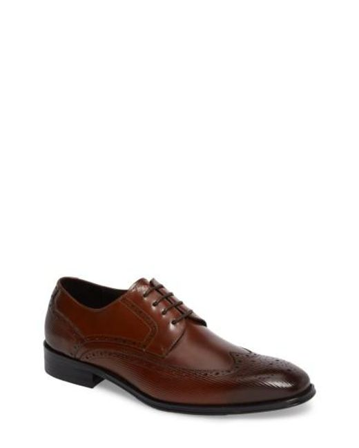 Kenneth Cole | Brown Wingtip for Men | Lyst