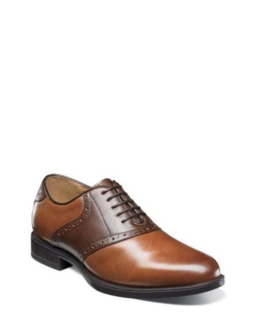 Florsheim | Brown Midtown Saddle Oxford for Men | Lyst