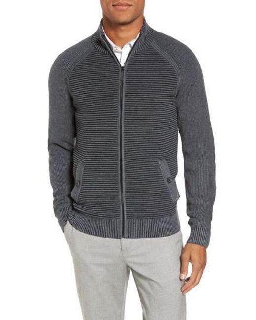 Ted Baker | Gray Modern Slim Fit Raglan Sweater for Men | Lyst