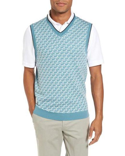 Ted Baker   Blue Tommas Golf Merino Sweater Vest for Men   Lyst
