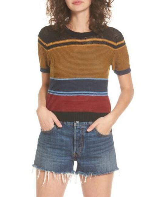 RVCA | Multicolor Brightside Stripe Knit Sweater | Lyst