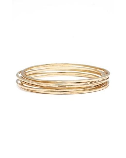 INK AND ALLOY | Metallic Ink + Alloy Set Of 4 Stackable Bangles | Lyst