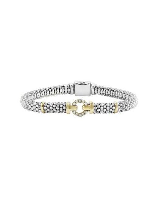 Lagos | Metallic Enso Diamond Bracelet | Lyst