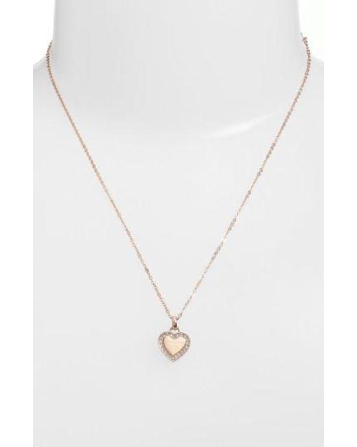 Michael Kors | Metallic Heart Pendant Necklace | Lyst