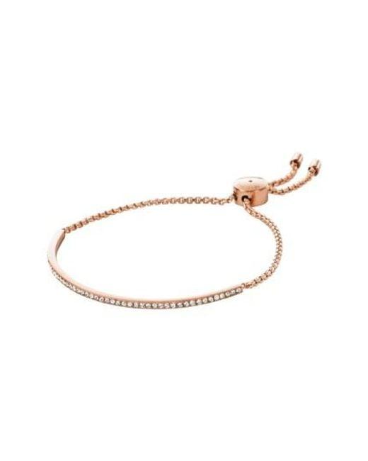 Michael Kors   Metallic Crystal Skinny Bracelet   Lyst