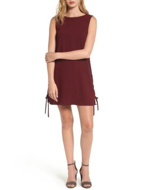 Cupcakes And Cashmere | Red Timberly Lace-up Shift Dress | Lyst