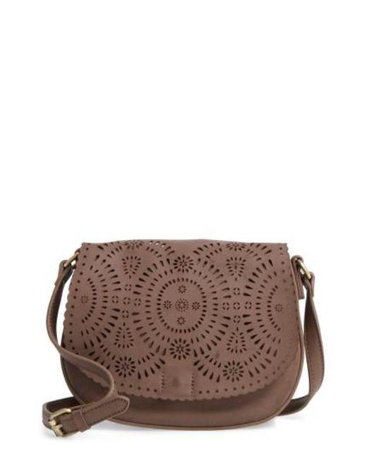 Shiraleah   Gray Dakota Faux Leather Saddle Bag   Lyst