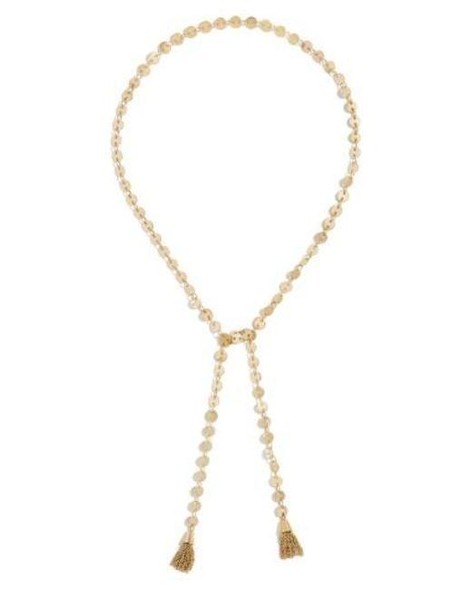 BaubleBar | Metallic April Lariat Necklace | Lyst
