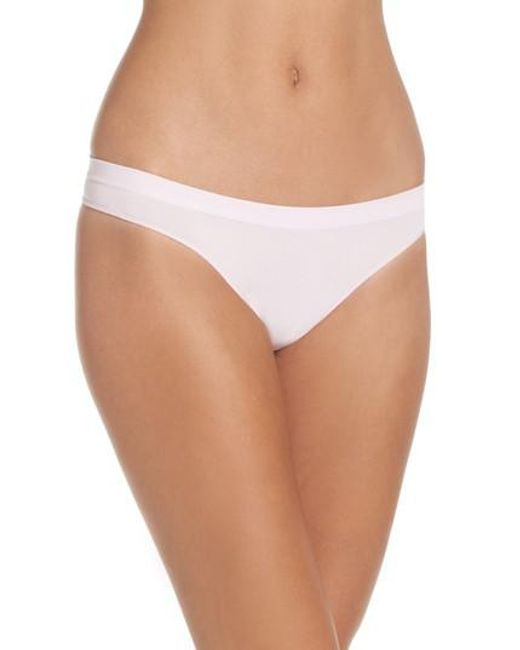 B.tempt'd | White Stretch Thong | Lyst