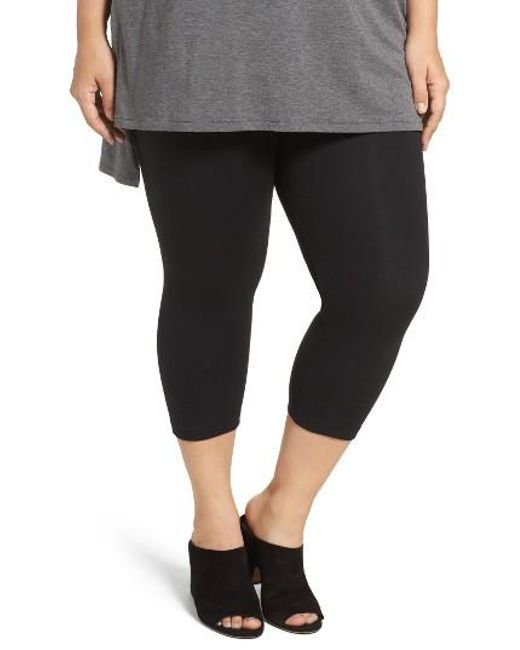 Lyssé | Black Control Top Capri Leggings | Lyst