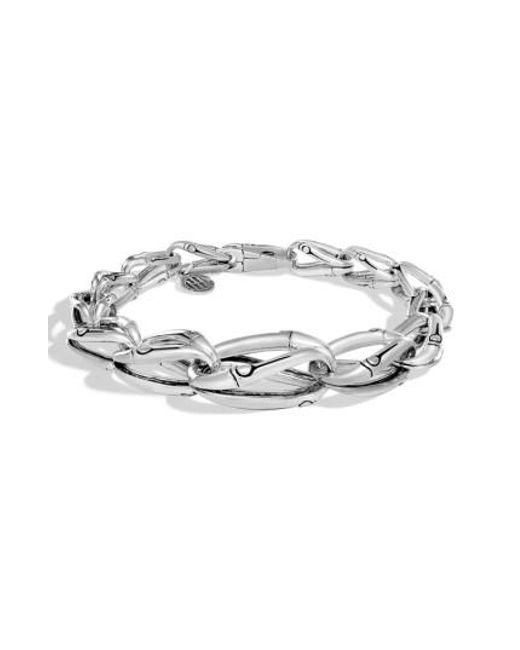 John Hardy | Metallic Bamboo Tapered Link Bracelet | Lyst