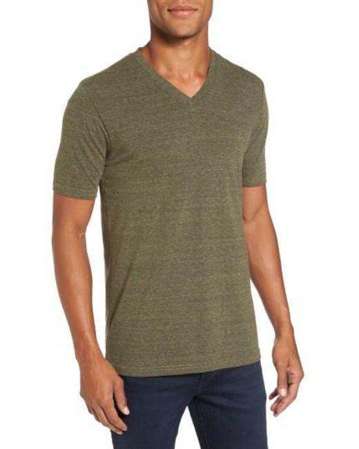 Goodlife   Green V-neck Heathered T-shirt for Men   Lyst