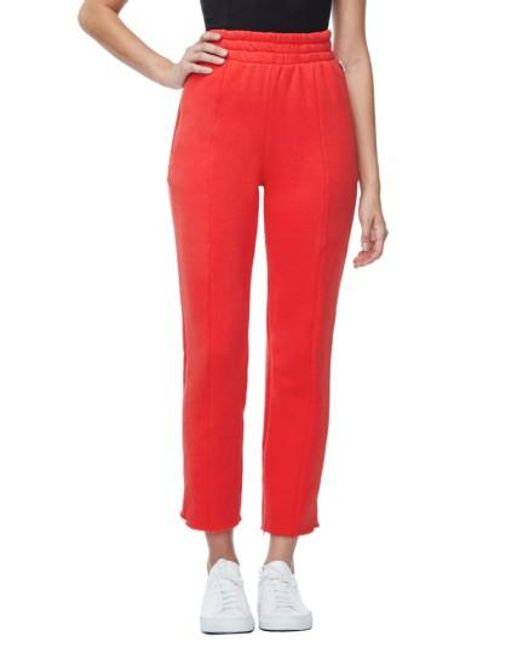 GOOD AMERICAN | Red Good Sweats The High Waist Sweatpants | Lyst