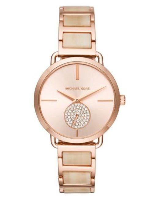 Michael Kors | Metallic Portia Round Bracelet Watch for Men | Lyst