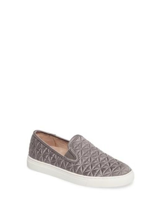 Vince Camuto | Gray Billena Quilted Slip-on Sneaker | Lyst