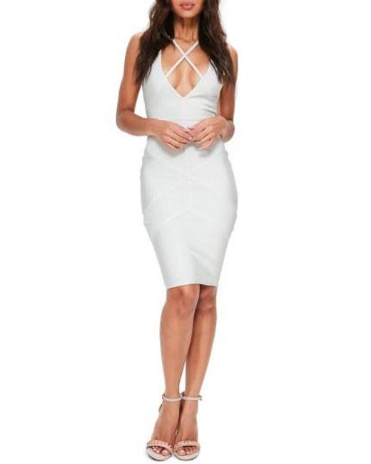 Missguided | White Premium Sleeveless Body-con Dress | Lyst