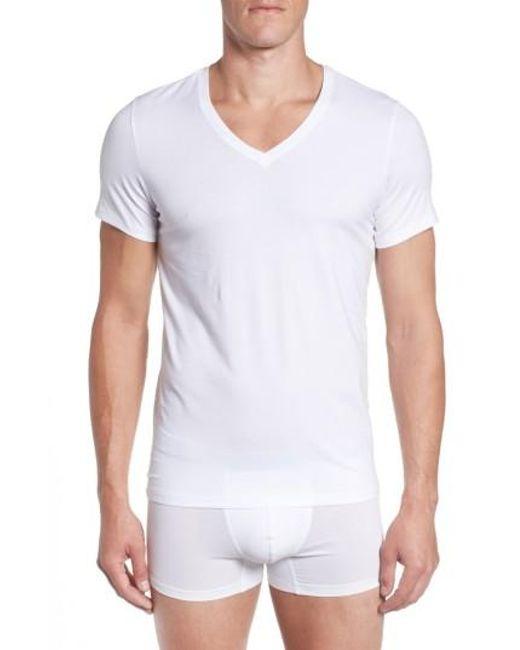 Hanro | White V-neck T-shirt for Men | Lyst