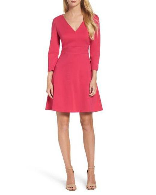 Eliza J   Pink Fit & Flare Dress   Lyst