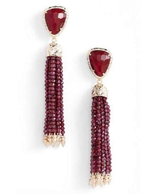 Kendra Scott | Multicolor Blossom Tassel Drop Earrings | Lyst