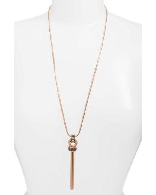Vince Camuto | Metallic Tassel Necklace | Lyst